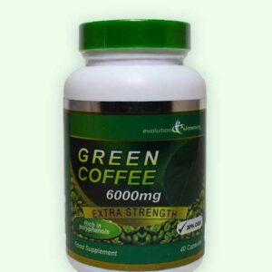 كبسولات القهوة الخضراء Green Coffee 6000mg