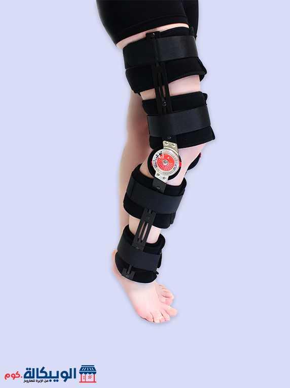 جبيرة الركبة المفصلية بعداد | Adj. Hinged Knee Brace Bluewell 1