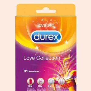 مجموعة الواقي الذكري ديوركس 31 قطعة | Durex Condoms Love Collection
