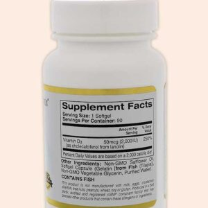 حبوب فيتامين د3 California Gold Nutrition