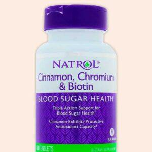 Natrol اقراص القرفة والبيوتين والكروميوم