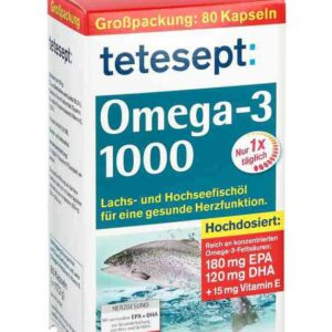 كبسولات اوميجا 3 1000 | Tetesept Omega 3 fish oil 1000mg