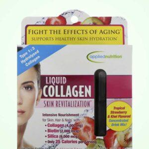 امبولات الكولاجين للوجه والشعر – شراب أمريكي بنكهة الفراولة | liquid collagen