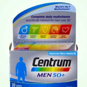 فيتامين سنتروم للرجال +50 الانجليزي 30 قرص | Centrum For Men 50+