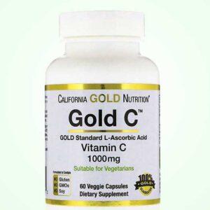 كبسولات فيتامين سي 1000 الأمريكي 60 كبسولة من California Gold Nutrition
