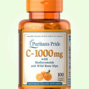 اقراص فيتامين سي لتقوية المناعة – 100 كبسولة – puritans pride