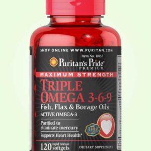 كبسولات اوميجا 3 6 9 لصحة القلب والجسم | Triple Omega 3 6 9