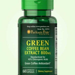 كبسولات جرين كوفى للتخسيس من بيوريتيان | green coffee 800mg