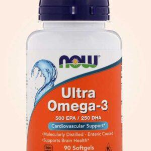 حبوب الترا اوميجا لتنشيط وظائف الإدراك 90 كبسولة | Now Foods