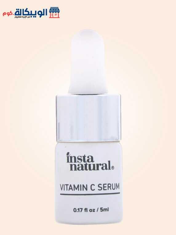 سيروم الهيالورونيك اسيد مع فيتامين سي للبشرة | InstaNatural