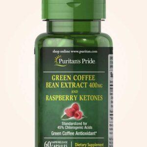 كبسولات القهوة الخضراء مع الراسبيري كيتون للتخسيس | Puritans pride