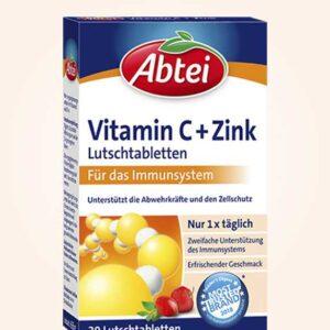 حبوب فيتامين ج و الزنك | Vitamin C + Zinc Lozenges