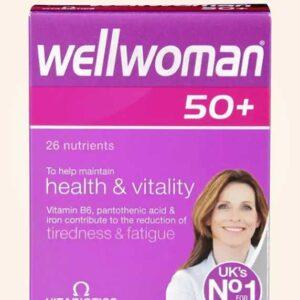 حبوب ويل ومن للنساء كبار السن 30 قرص | Vitabiotics Wellwoman +50