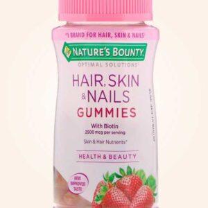 علكة هير سكين اند نيلز – 80 قطعة للشعر والجلد والأظافر | Hair Skin Nails Gummies