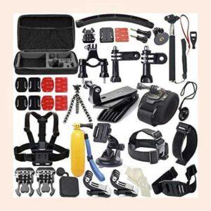 طقم اكسسوارات جو برو هيرو 50 قطعة | Camera Accessories for GoPro Hero 4/3/2/1