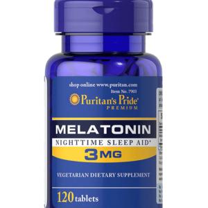 دواء الميلاتونين الأمريكي لتنظيم دورة النوم| Puritan's Pride Melatonin Tablets